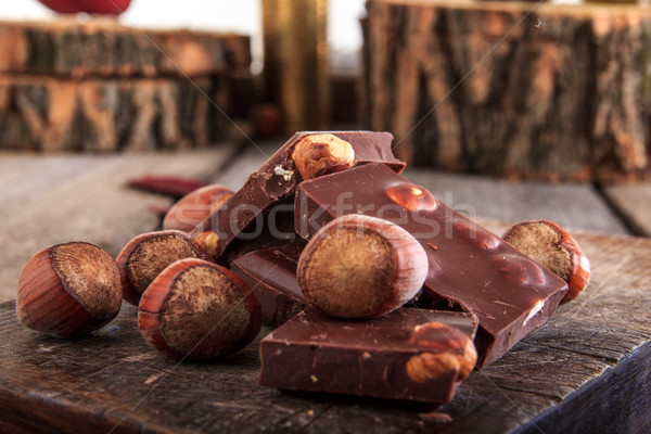 шоколадом частей Сток-фото © feelphotoart