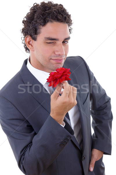 seducer with rose Stock photo © feelphotoart