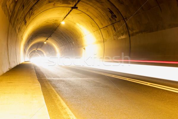 Alagút fények űr utazás autópálya éjszaka Stock fotó © feelphotoart