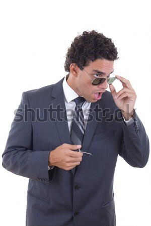 человека Солнцезащитные очки Sexy модель очки Сток-фото © feelphotoart
