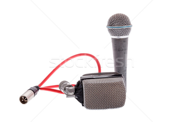 studio recording groups of microphones for lead vocal  Stock photo © feelphotoart