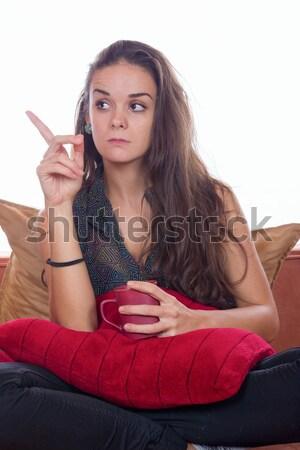 intrigued women Stock photo © feelphotoart