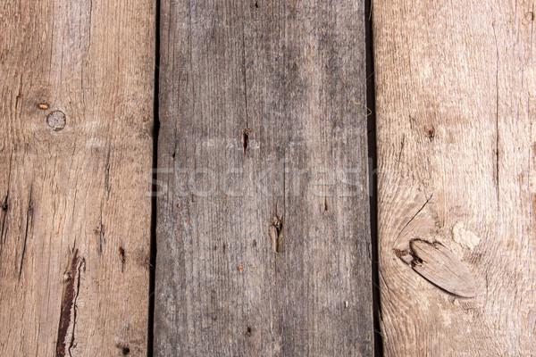 Viharvert fából készült deszkák absztrakt háttér illusztráció Stock fotó © feelphotoart