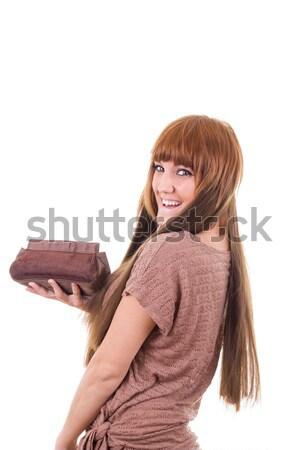 かなり 少女 虚栄心 場合 笑みを浮かべて ストックフォト © feelphotoart