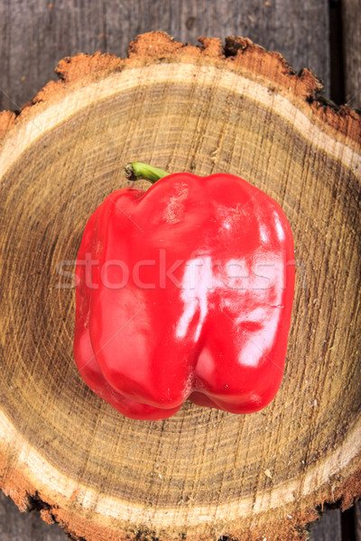 Friss piros paprika fából készült édes étel Stock fotó © feelphotoart