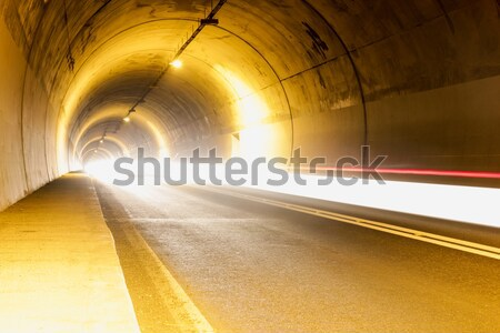 tunnel with strange lights and emptiness Stock photo © feelphotoart
