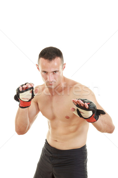 martial fighter with fight gloves and bandage Stock photo © feelphotoart