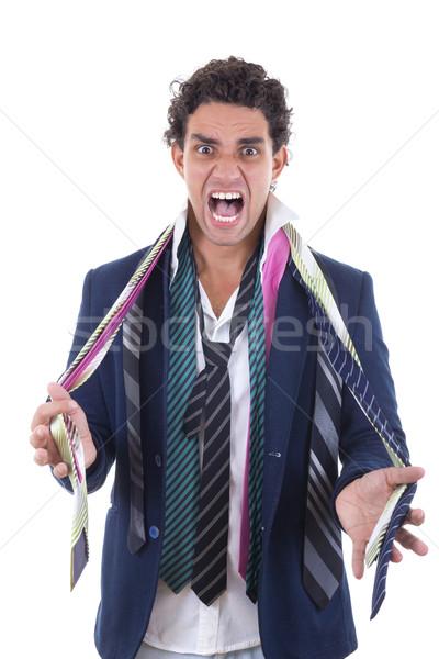 сердиться человека вокруг шее служба работу Сток-фото © feelphotoart