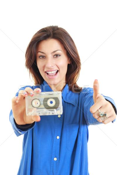 きれいな女性 オーディオ カセット ストックフォト © feelphotoart