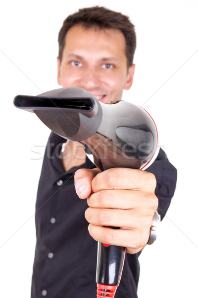 hairdresser holding professional blow dryer Stock photo © feelphotoart
