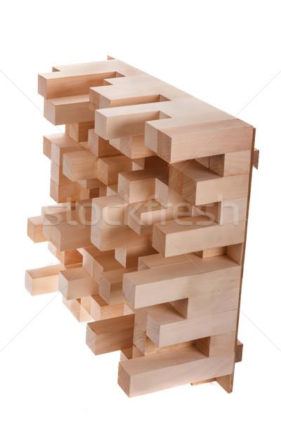 Foto skyline houten muziek professionele kamer Stockfoto © feelphotoart