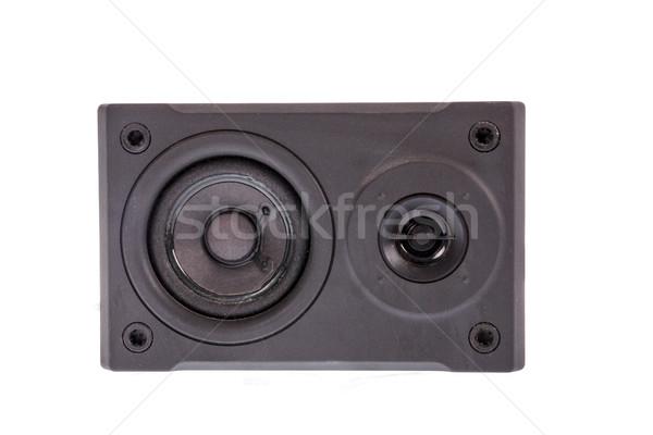 Fotó fekete audio hangszóró izolált fehér Stock fotó © feelphotoart