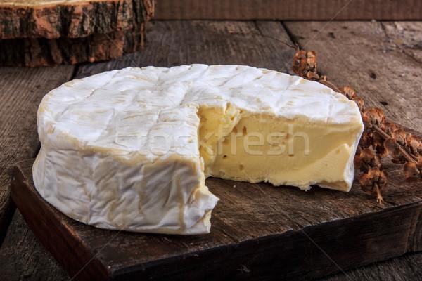Queijo camembert queijo doméstico fundo Foto stock © feelphotoart
