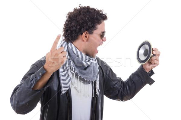 человека оратора музыку Sexy Сток-фото © feelphotoart