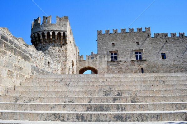 Palace of Grand Masters, Rhodes, Greece. Stock photo © FER737NG