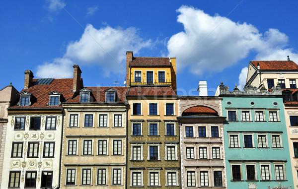 Varşova evler Polonya ev seyahat Stok fotoğraf © FER737NG