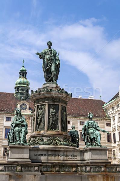 Keizer standbeeld heilig Romeinse Wenen Oostenrijk Stockfoto © FER737NG