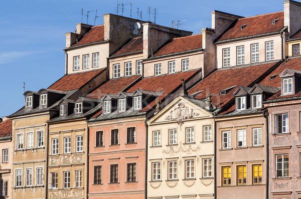 ワルシャワ 旧市街 住宅 ポーランド 家 市 ストックフォト © FER737NG