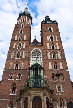 Templom szent Krakkó Lengyelország utazás torony Stock fotó © FER737NG