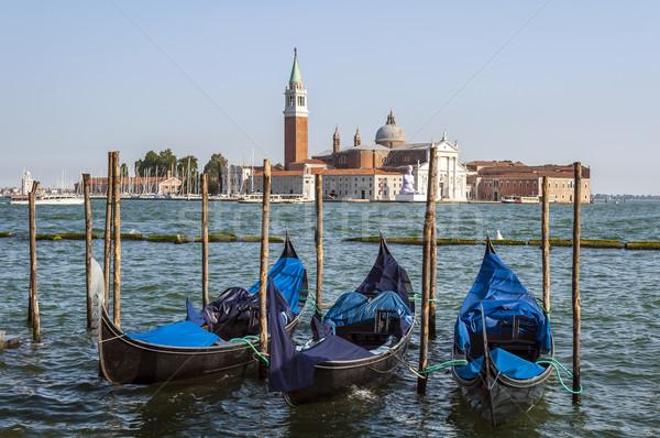 Veneza Itália cidade igreja barco ilha Foto stock © FER737NG