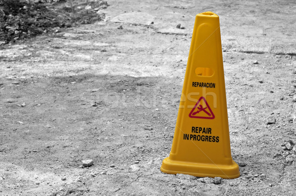 Yellow cone. Stock photo © FER737NG