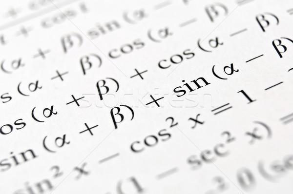 Algebra formulas close up. Stock photo © FER737NG
