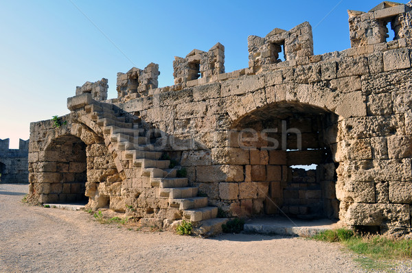 Medieval fortress of Rhodes. Stock photo © FER737NG