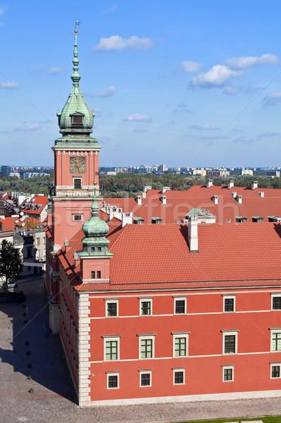 Varsó királyi kastély óváros Lengyelország óra Stock fotó © FER737NG