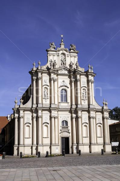 Guardião igreja histórico Varsóvia Polônia construção Foto stock © FER737NG