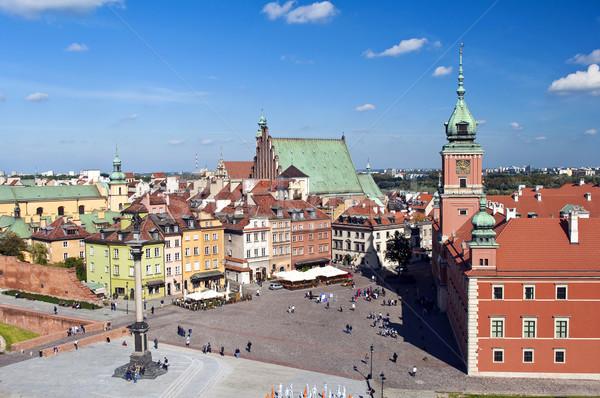 Varsó óváros tér királyi kastély Lengyelország Stock fotó © FER737NG
