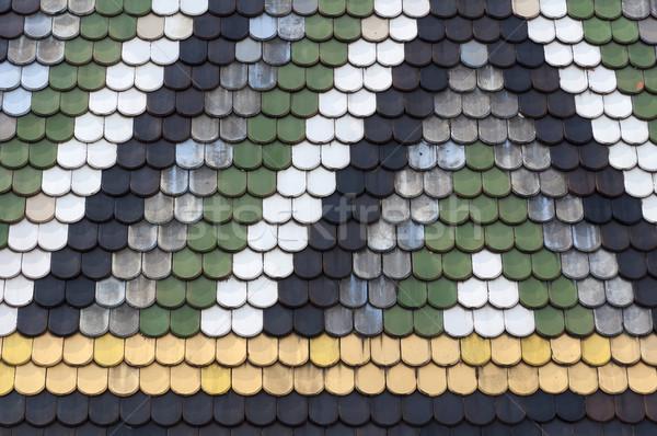 Dak gedetailleerd kleurrijk houten kunst Stockfoto © FER737NG
