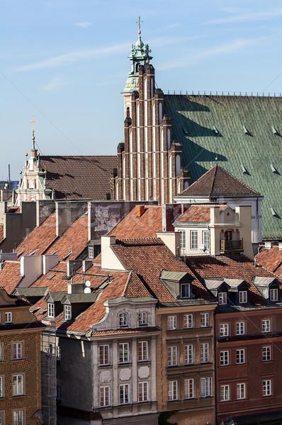 Варшава старый город квартиру зданий Церкви здании Сток-фото © FER737NG