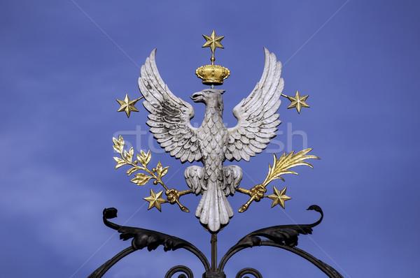 Sas fehér szimbólum Lengyelország madár kék Stock fotó © FER737NG