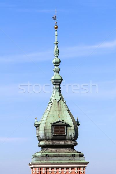 Kastély torony királyi Varsó óváros Lengyelország Stock fotó © FER737NG