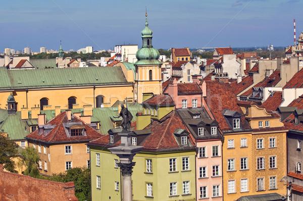Варшава старый город домах Церкви дома здании Сток-фото © FER737NG