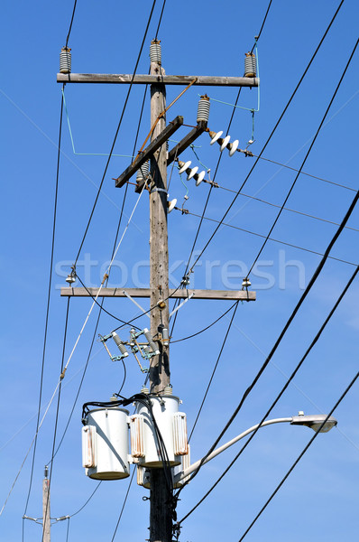 Electrical pole. Stock photo © FER737NG
