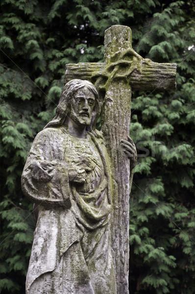 Jezusa Chrystusa obraz krzyż nauczyciel Zdjęcia stock © FER737NG