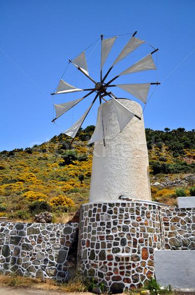 Utazás Európa hagyományos szél fennsík égbolt Stock fotó © FER737NG