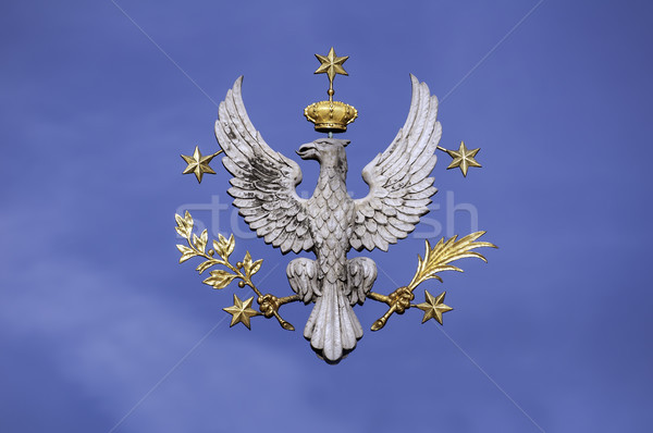 Sas fehér szimbólum Lengyelország izolált kék Stock fotó © FER737NG