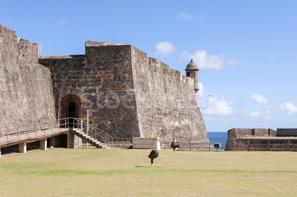 öreg San Juan Puerto Rico kastély posta Karib Stock fotó © FER737NG