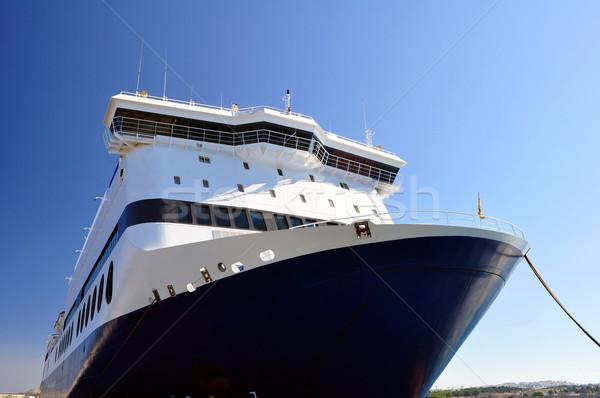 Balsa barco grande mediterrânico porta mar Foto stock © FER737NG