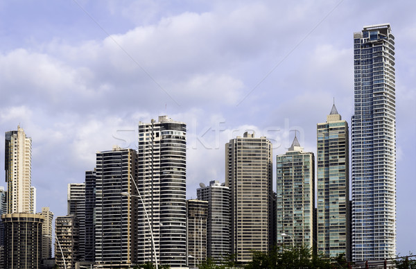 Panama gebouw skyline corporate macht Stockfoto © FER737NG