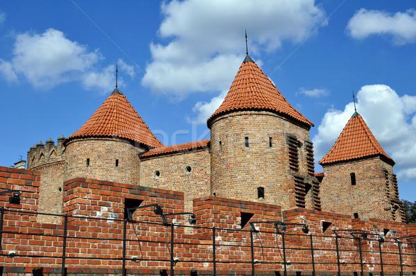 ワルシャワ ポーランド 中世 要塞 市 レンガ ストックフォト © FER737NG