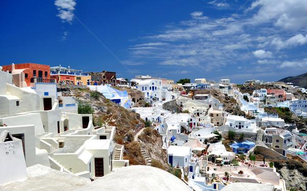 Santorini sziget utazás Európa gyönyörű Görögország Stock fotó © FER737NG
