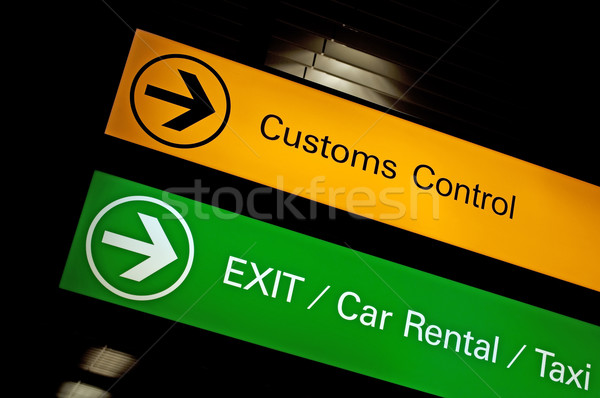 Customs control sign. Stock photo © FER737NG
