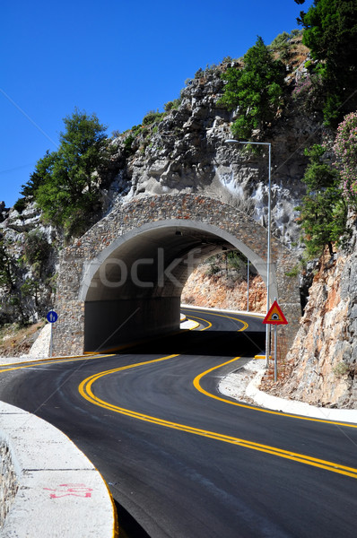 Hegy alagút utazás fotózás út sziget Stock fotó © FER737NG