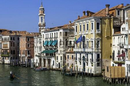Velence Olaszország gyönyörű kilátás csatorna tipikus Stock fotó © FER737NG