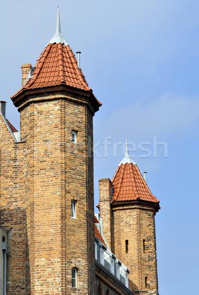 Danzica Polonia castello torri città costruzione Foto d'archivio © FER737NG