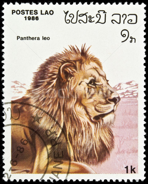 Lion stamp. Stock photo © FER737NG