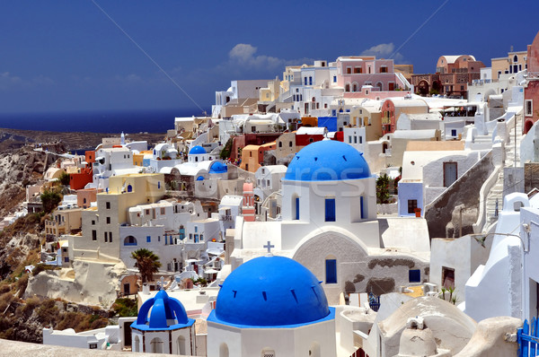 Santorini sziget utazás fotózás gyönyörű Görögország Stock fotó © FER737NG
